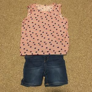 Girls 5t tank top and shorts outfit